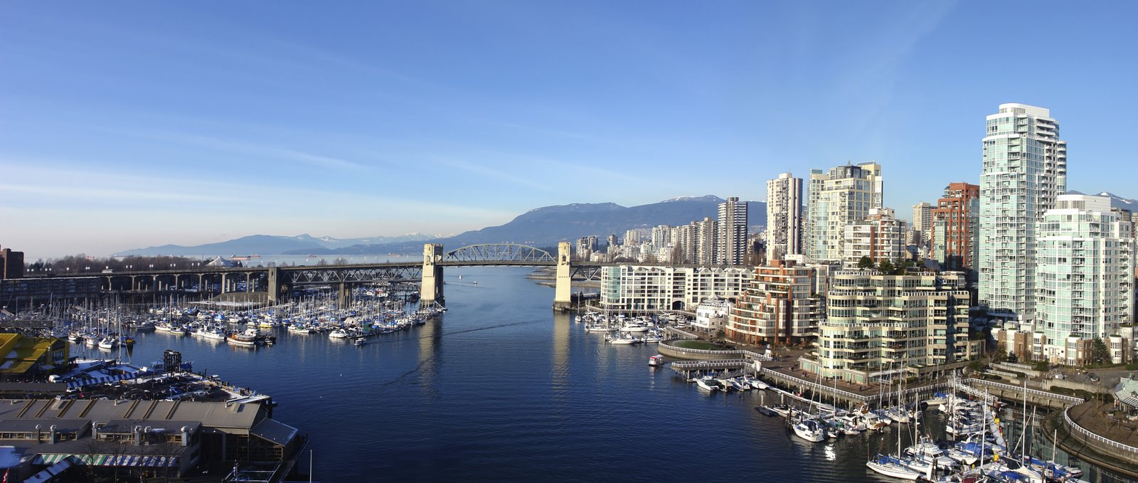 Panoramic image of Vancouver City